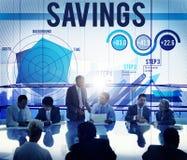 Begrepp för bankrörelsen för vinst för besparingekonomifinans royaltyfri bild