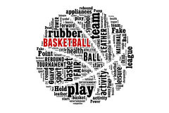 Begrepp för basketordmoln Royaltyfria Foton