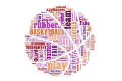 Begrepp för basketordmoln Arkivfoton