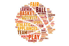Begrepp för basketordmoln Fotografering för Bildbyråer