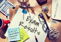 Begrepp för bedömning för granskning för examenresultatSchoold undersökning royaltyfri bild