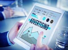 Begrepp för befordran för advertizingmarknadsföringsaffär royaltyfri foto
