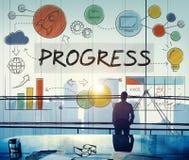 Begrepp för befordran för innovation för framstegutvecklingstillväxt arkivfoto