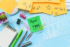 Begrepp för beröm för dag för ` s för April dumbom Arkivfoto