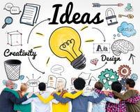 Begrepp för beskickning för plan för design för idéidévision sakligt arkivfoton