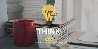 Begrepp för beslutsamhet för tankar för planläggning för funderareidéinspiration Royaltyfria Foton