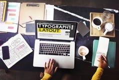 Begrepp för beståndsdel för design för kreativitet för typografiorienteringsidéer Royaltyfria Foton