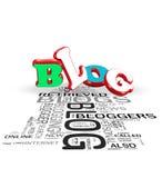 begrepp för blog 3d Arkivfoton