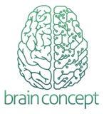 Begrepp för bräde för elektrisk strömkrets för hjärna halvt Arkivbild