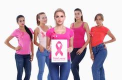 Begrepp för bröstcancermedvetenhethälsa royaltyfri foto
