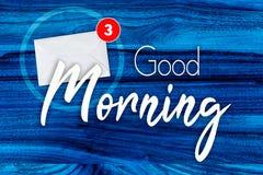 Begrepp för bra morgon i blått vektor illustrationer