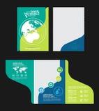 Begrepp för broschyrmallmiljö Låt räddningen för ` s världen tillsammans Arkivfoto