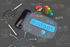 begrepp för budget 3d Stock Illustrationer
