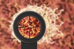 Begrepp för cancerbehandling Arkivbilder