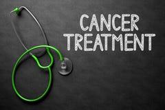 Begrepp för cancerbehandling på den svart tavlan illustration 3d Arkivfoton