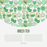 Begrepp för ceremoni för grönt te vektor illustrationer