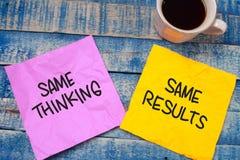 Begrepp för citationstecken för ord för självutveckling Motivational, samma Thinkin arkivfoto
