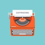 Begrepp för Copywriting lägenhetillustration Royaltyfria Bilder