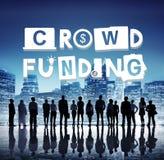 Begrepp för Crowdfunding Fundraising bidraginvestering royaltyfria foton
