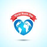 Begrepp för dag för världshälsa också vektor för coreldrawillustration Arkivbilder