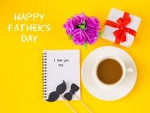 Begrepp för dag för fader` s Lycklig dag för fader` s arkivfoton