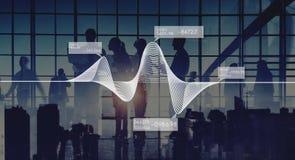 Begrepp för data för materiel för statistik för information om diagramgrafer royaltyfri fotografi