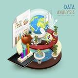 Begrepp för dataanalys royaltyfri illustrationer