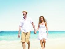 Begrepp för datummärkning för strand för bröllopsresaparsommar arkivbild