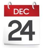 Begrepp för December 24th kalenderdatum Royaltyfri Fotografi