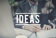 Begrepp för design för kreativitet för idéinspirationmotivation arkivfoto