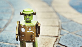 Begrepp för design för kultur för robotvärld framtida Arkivfoton