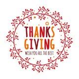 Begrepp för design för tacksägelsedagvektor med röda lönnlöv arkivfoto