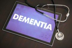Begrepp för diagnos för demens (neurological oordning) medicinskt på ta fotografering för bildbyråer