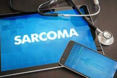 Begrepp för diagnos för Sarcoma (släkt cancer) medicinskt på minnestavlascr vektor illustrationer