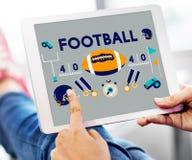 Begrepp för diagram för sportar för lek för modig boll för fotboll Royaltyfri Fotografi