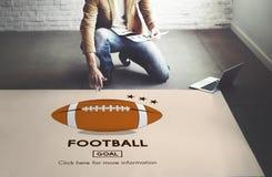 Begrepp för diagram för sportar för lek för modig boll för fotboll Arkivfoton
