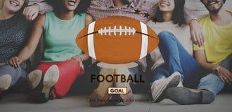 Begrepp för diagram för sportar för lek för modig boll för fotboll Fotografering för Bildbyråer