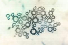 Begrepp för Digital futuristiskt nätverksform - datormatrissiffror frambragte - tekniskt avancerad abstrakt bakgrund Royaltyfri Bild