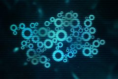 Begrepp för Digital futuristiskt nätverksform - datormatrissiffror frambragte - tekniskt avancerad abstrakt bakgrund Royaltyfria Foton