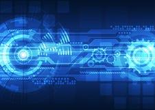 Begrepp för digital teknologi för vektor, abstrakt bakgrund Royaltyfria Bilder