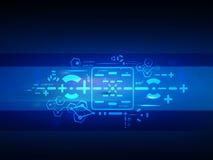 Begrepp för digital teknologi för vektor framtida, abstrakt bakgrund Arkivbilder