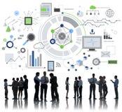 Begrepp för Digitalt nätverk för informationsteknik arkivfoton