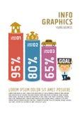 Begrepp för dröm för informationsdiagramaffärsman Stock Illustrationer
