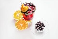 Begrepp för drinkar för frukt för matphotoshoot sunt arkivbilder