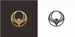 Begrepp för Eagle logodesign med den lyxiga stillogomallen royaltyfri illustrationer