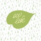 Begrepp för Eco livbokstäver royaltyfri illustrationer