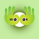 Begrepp för Eco okbakgrund Royaltyfri Fotografi