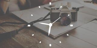 Begrepp för effektivitet för exakthet för stämpelurorganisationsledning royaltyfri foto