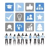 Begrepp för effektivitet för kommunikation för utmärkthet för affärsfolk stock illustrationer