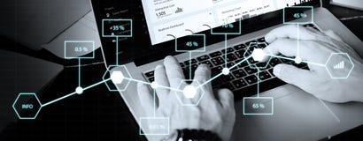 Begrepp för ekonomi för procentsats för information om analysstatistik Royaltyfri Foto